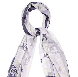 Versace Accessories - 😍💜VERSACE💜 Purple Barocco silk stole shawl NWT